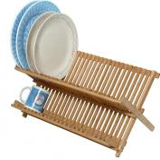 Bamboo Scissor Style Folding Dish Rack. # 66-102
