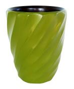 Enrico 3140MS4080 Mango Utensil Vase, Spiral Avocado