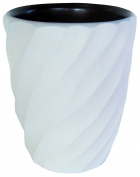 Enrico 3140MS6080 Mango Utensil Vase, Spiral White