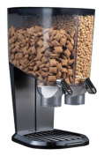 Rosseto EZ-SERV100 8.3l Cereal-and-Snack Dispenser, Black and Chrome