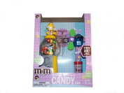 M & M GIFT PACK DISPENSER AND CANDY FUN - BUNNY EARS ON BOTH PENNY MACHINE, FAN