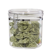 Oggi Jumbo Acrylic Airtight Canister with Clamp, 3840ml
