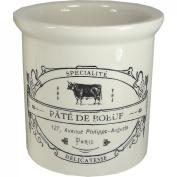 Rillettes Maison-Stoneware Crock with Vintage Reproduction Label