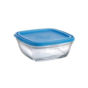 Duralex Lys Square Bowl with Lid, 1060ml