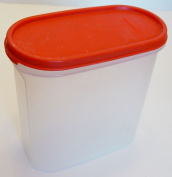 Kitchenware Modular Mate Sheer Container #3 with Red Lid Holds 7.25 Cups