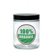 420 Science Clear Screw Top Stash Jar - 100% Organic