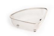 p!zazz 401-0041 Stainless Steel Strainer Basket, Silver