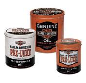 Harley-Davidson® Oil Can Storage Tin Set. Set of Three Tins. HDL-19201