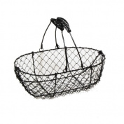 Stella Mini Wire Basket with Swing Handle- Black