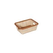 G.E.T. WB-1515-TT Polyweave 18-1/2 x 33cm - 1.3cm Two Tone Basket