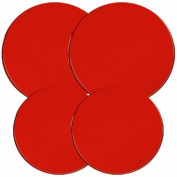 Reston Lloyd Electric Stove Burner Covers, Set of 4, Red