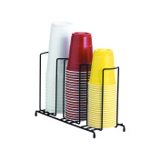 Black Wire Rack Cup and Lid Organiser