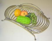 Chrome Rectangle Fruit Basket. 41cm W X 24cm D X 10cm H