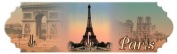 FRENCH VINTAGE CLOTH TOWEL KEY HOOK METAL EIFFEL TOWER - AT254