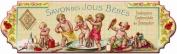 FRENCH VINTAGE CLOTH TOWEL KEY HOOK METAL PRETTY BABYS - AT102