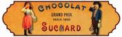 FRENCH VINTAGE CLOTH TOWEL KEY HOOK METAL SUCHARD CHOCOLATE - AT686