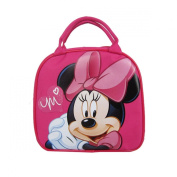 Officially Licenced Disney Zipper Lunch Box With Water Bottle and Adjustable Strap - Minnie Mouse