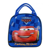 Officially Licenced Disney Pixar Cars Zipper Lunch Box With Water Bottle and Adjustable Strap - Lightning McQueen
