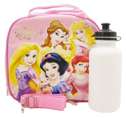 Disney Princess Lunch Bag with a Water Bottle - Light Pink