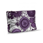 Thirty One Medium Thermal Zipper Pouch in Plum Awesome Blossom - No Monogram - 4363