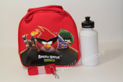 New Angry Bird Space Sholder Strap Lunch Box Bag - Red