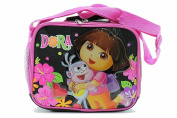 Dora The Explorer Girl's Pink/Black Insulated Lunch Bag BP-5219