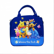 Officially Licenced Disney Zipper Lunch Box With Water Bottle and Adjustable Strap - Piglet, Pooh, Tigger, Roo, and Eeyore