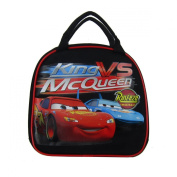 Officially Licenced Disney Pixar Cars Zipper Lunch Box With Water Bottle and Adjustable Strap - Lightning McQueen and The King