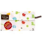 Kushies Baby Kushies On The Go Snack Bag, Animal Print, Small