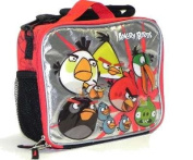 Red and Silver Angry Birds Lunch Bag - Angry Birds Lunch Box