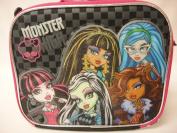 Monster High Insulated Lunch Bag- Pink Glitter Skull