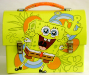 Collectable SpongeBob SquarePants Tin Dome Lunch Box Carry All Tin - Lunchbox