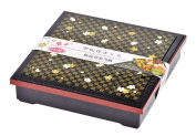 Pearl chequered flower cherry Shokado lunch box (with partition) D-469