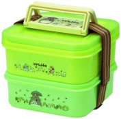 (4 pieces of belt plate bird) My Neighbour Totoro Studio Ghibli (clover) picnic lunch box stage 2