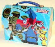 Collectable Transformers Tin Dome Lunch Box Workmans Carry All Lunchbox