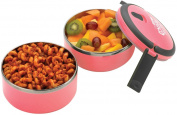 Grunwerg Pioneer Out For Lunch Lunch Double Decker Snack Box Set Pink DRLB-567P