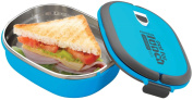 Grunwerg Pioneer Out For Lunch Stainless Steel Vacuum Fresh Sandwich Box Blue SLB-707B