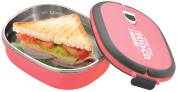 Grunwerg Pioneer Out For Lunch Stainless Steel Vacuum Fresh Sandwich Box Pink SLB-707P