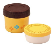 Lunch container set flower yellow 72217-3