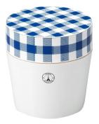 Masakazu [lunch box] Paris Cheque cafe lunch round navy x white