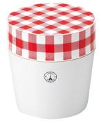 Masakazu [lunch box] Paris Cheque cafe lunch round Red x White