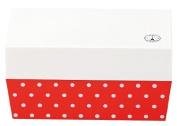 Masakazu [lunch box] Paris dot cafe lunch angle White x Red