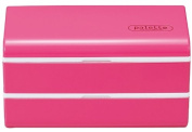 Masakazu [two-stage lunch box cold insulation agent] with modern square lunch pink 75930
