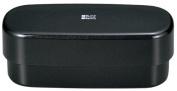 Masakazu [two-stage lunch box] BlackStyle Men's Slim oval lunch black metallic 77 314