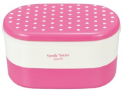Masakazu [two-stage lunch box] family vent dot pink 75319