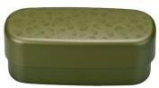 Masakazu [two-stage lunch box] men slim oval lunch skull olive 75,721