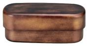 Masakazu [two-stage lunch box] men slim oval vintage lunch Gold 75801