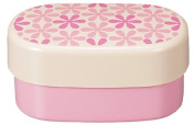 Masakazu [two-stage lunch box] wamoyou oval compact lunch floral pink