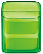 Masakazu . lunch box unit BENTO cube clear green two-stage band with