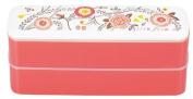 Masakazu two-stage [lunch box] isso ecco slim lunch rustle support Orange